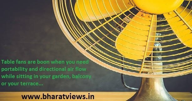 top 10 best table fans in India