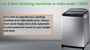 Best washing machines in India under 15000 in India