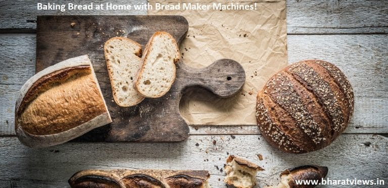 making breat at home with bread maker machine